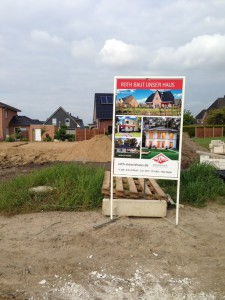 Roth Bauschild im Baugebiet Apensen